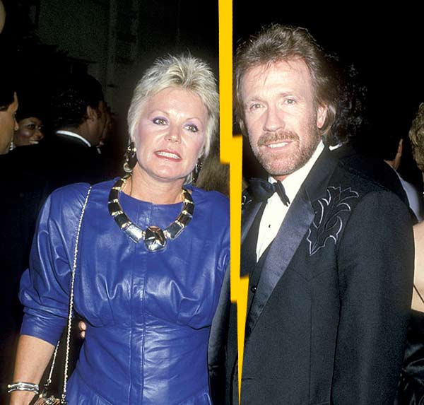 Chuck Norris divorce with his first wife Dianne Holechek