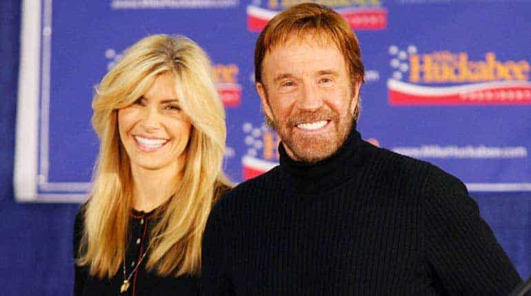 Gena O'kelley with her husband Chuck Norris