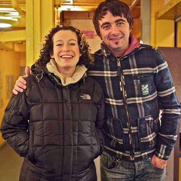 Kate Rusby with her husband Damien O'Kane