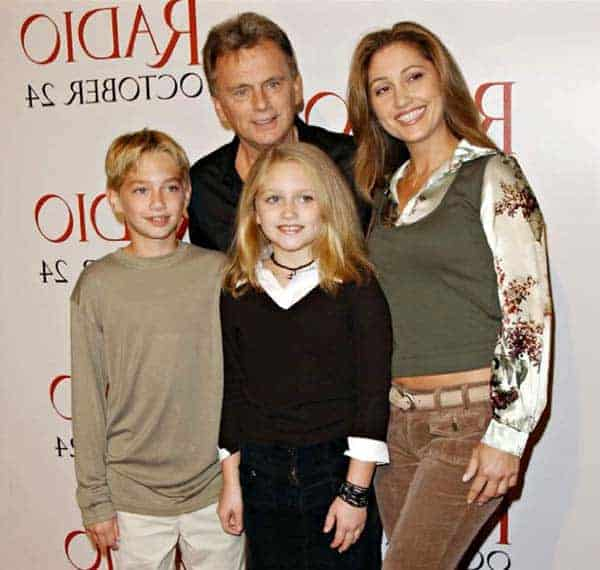 Pat Sajak with his current wife Lesly Brown and children