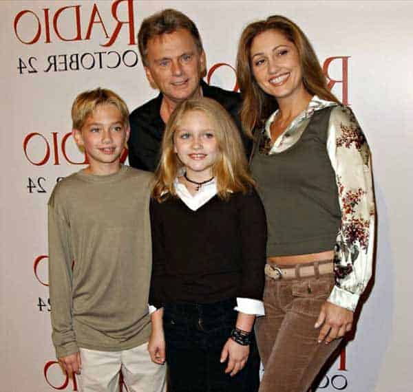 Pat Sajak with his second wife Lesly Brown and their children Patrick and Marie