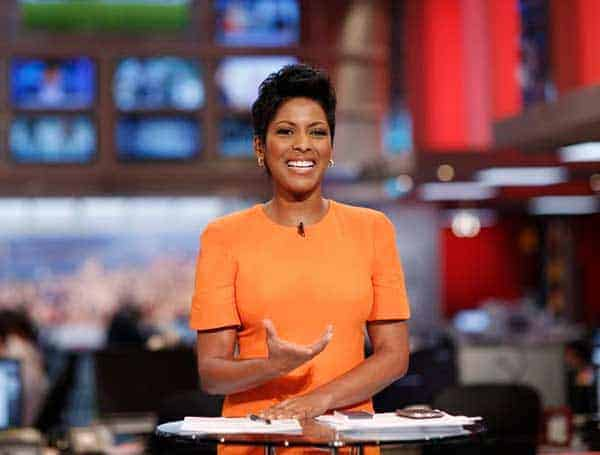 Tamron Hall morning show on the set of newsnation on MSNBC