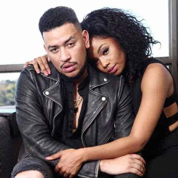 AKA with girlfriend Bonang Matheba