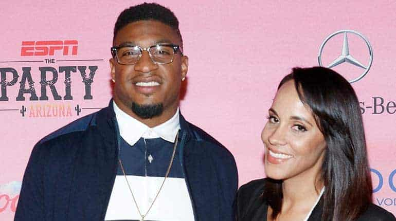 Ashley North and her soon-to- be husband Dashon Goldson