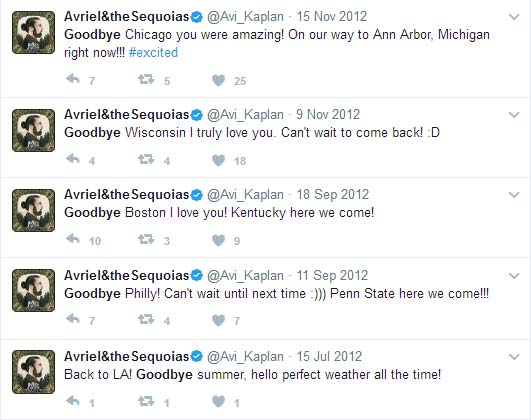 Avi Kaplan goodbye tweets