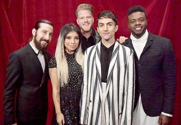 Avi Kaplan in 59th Annual GRAMMY Awards 2017 with Pentatonix team