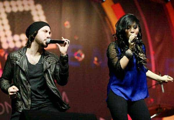 Avi Kaplan with his rumored co-singer girlfriend Kirstie Maldonado