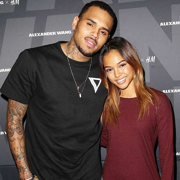 Karrueche Tran and ex-boyfriend Chris Brown before she was in relationship with Quavo