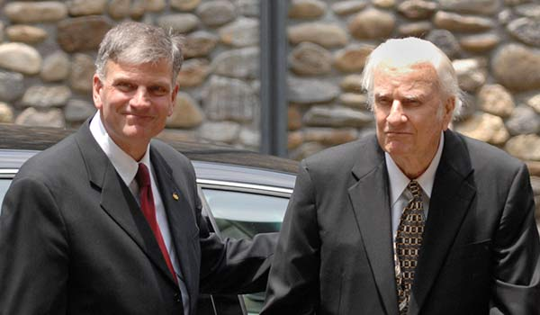 Franklin Graham with his businessman father Billy Graham
