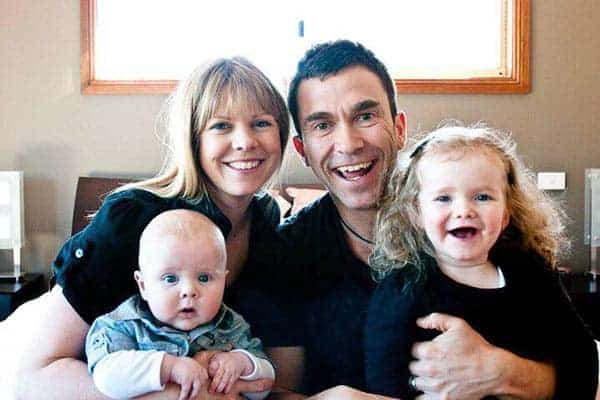 Happy and beautiful family picture of Lizzie Vaynerchuk with her husband, son and daughter
