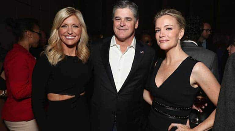 Jill Rhodes (left) with her husband Sean Hannity