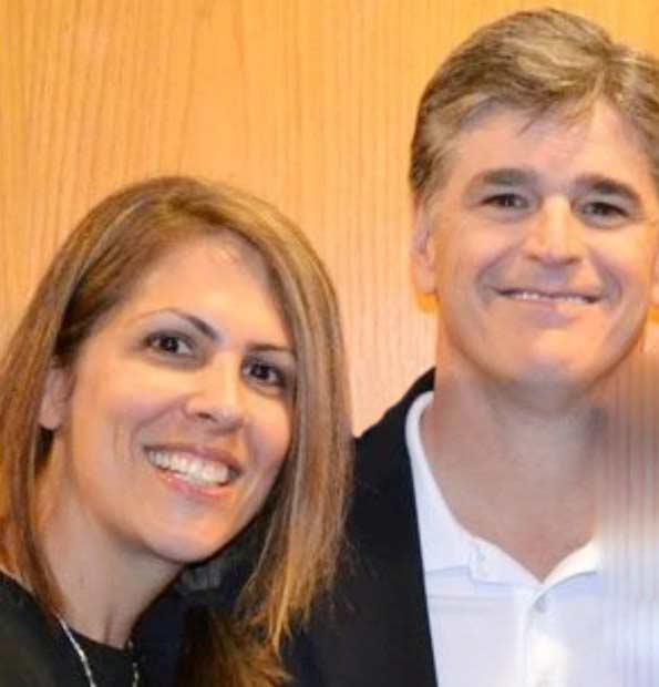 Jill Rhodes with her husband Sean Hannity