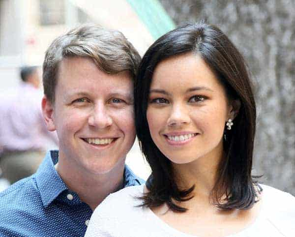 Adorable picture of Jo Ling Kent and her husband Scott Conroy