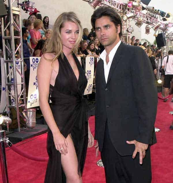 John Stamos with actress girlfriend Rebecca Romijn at MTV Movie Awards