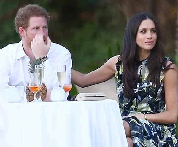 Meghan Markle with her boyfriend Prince Harry attending wedding ceremony