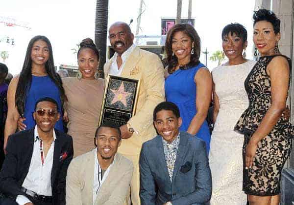 Caption: Steve Harvey's sons and daughters from his past relationship