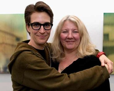 Susan Mikula with her partner Rachel Maddow
