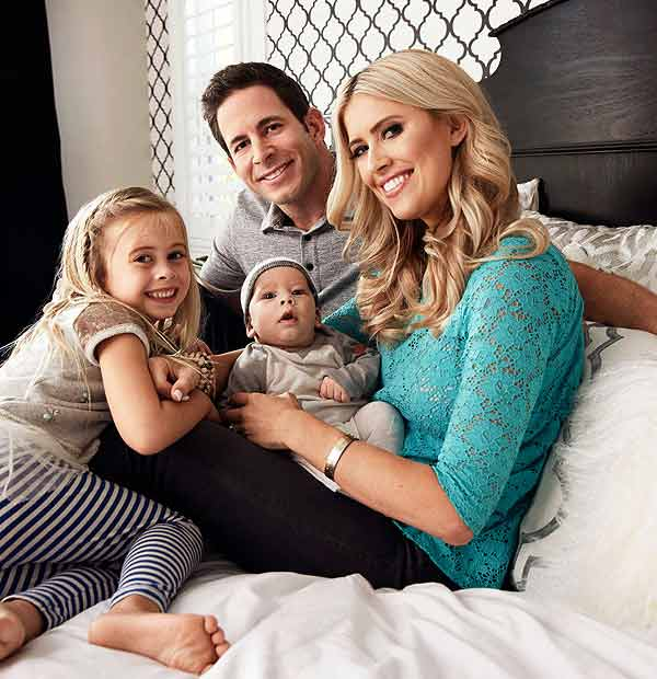 Tarek El Moussa family picture with his wife Christina and children