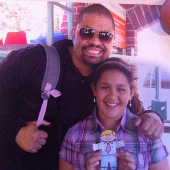 Xea Myers and her father Heavy D seems happy together