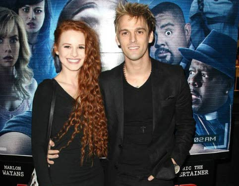 """Madelaine Petsch and Aaron Carter at the premiere of """"A Haunted House 2"""""""