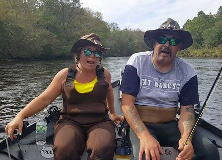 picture of wicked tuna's Dave Marciano and his wife Nancy in Fishing trip