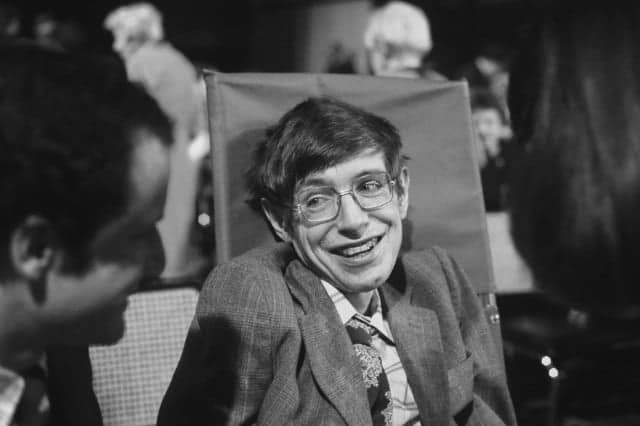 Young Stephen Hawking after the infection
