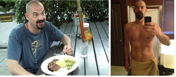 Aaron Goodwin havinh his diet to maintain his weight