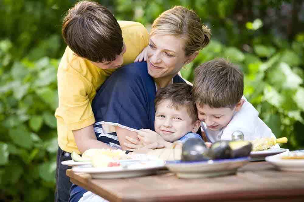 Chef Pati Jinich and his Sons