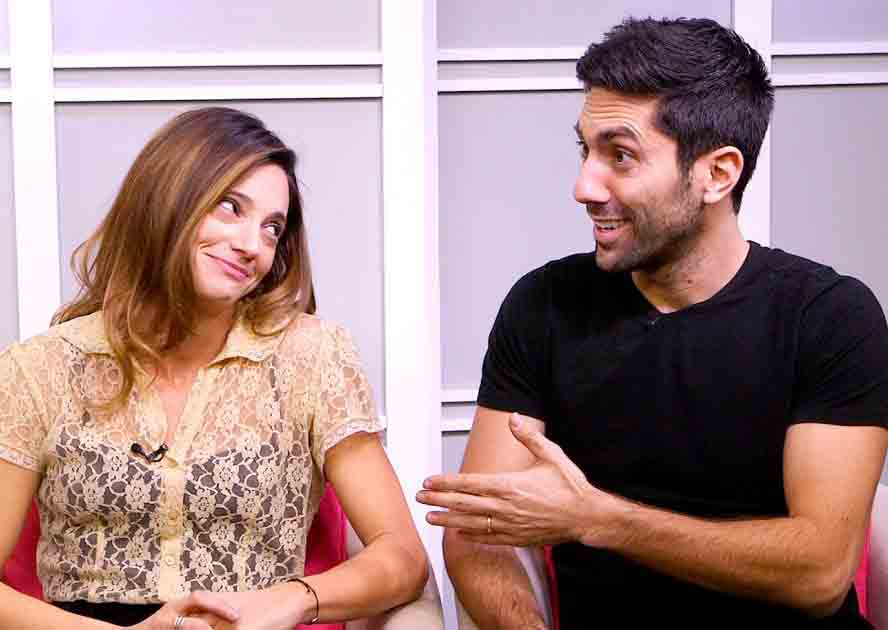 nev schulman and his wife laura Dish