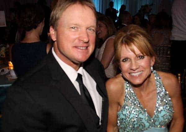 Image of Jon Gruden with his wife Cindy Gruden