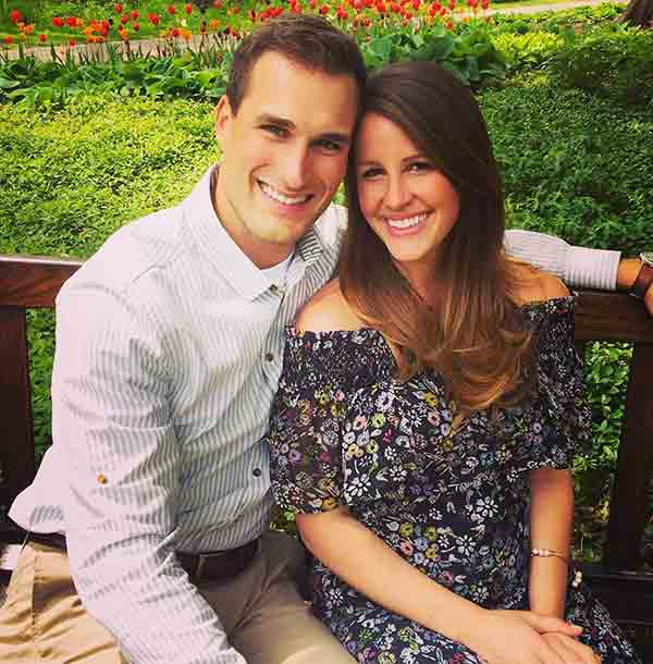 Image of Kirk Cousins with his wife Julie Hampton