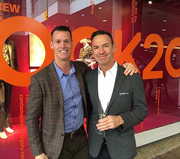 Image of Mark Tewksbury with his partner Rob Mabee