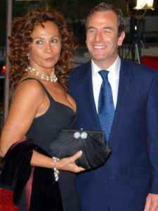 Image of Robson Green with his ex-wife Vanya Seager