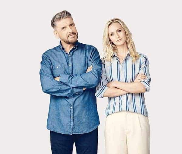 Image of Craig Ferguson with his wife Megan Wallace Cunningham