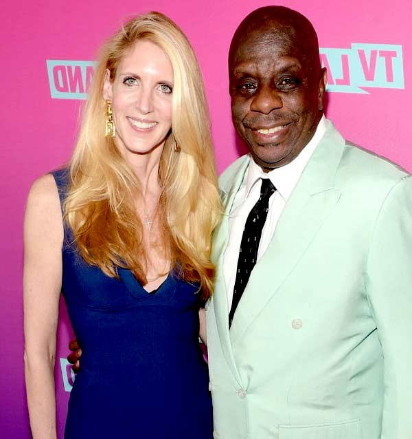 Image of Ann Coulter with her boyfriend Jimmie J.J. Walker