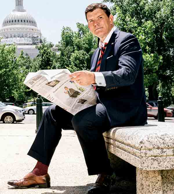 Image of Television Presentor Bret Baier height is 5 feet 11 inches.
