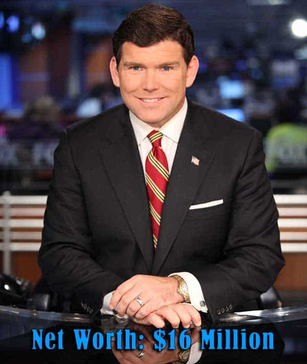 Image of Television presenter Bret Baier net worth is $16 million
