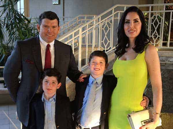 Image of Television Presentor Bret Baier with his wife Amy Baier and their kids