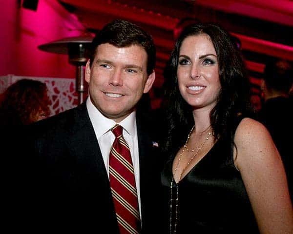 Image of Television Presentor Bret Baier with his wife Amy Baier