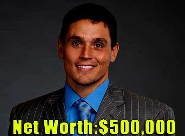 Image of American football player, David Pollack net worth is $500,000