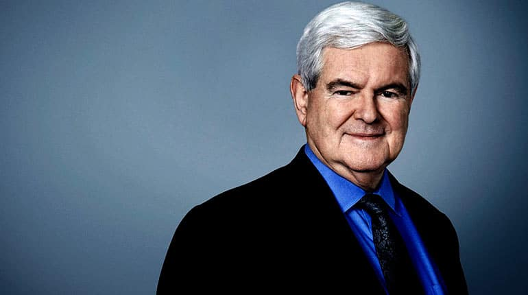 Image of Newt Gingrich net worth, salary, house, cars