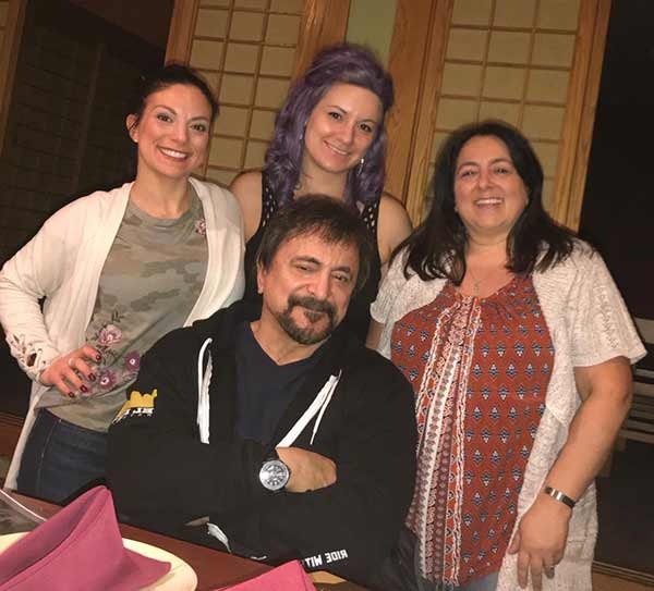 Image of Tom Savini with his daughters