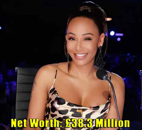 Image of TV Personality, Melanie Janine Brown net worth is £38.3 million