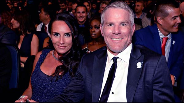 Image of Brett Favre with his wife Deanna Favre