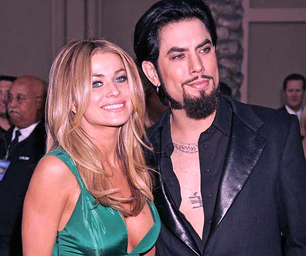 Image of Carmen Electra with her ex husband Dave Navarro