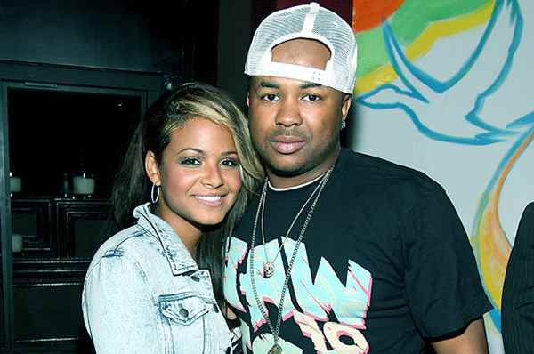 Image of Christina Milian with her ex-husband Terius Youngdell Nash
