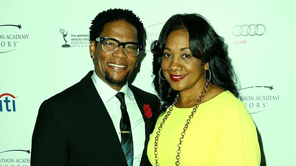 Image of DL Hughley with his wife LaDonna Hughley