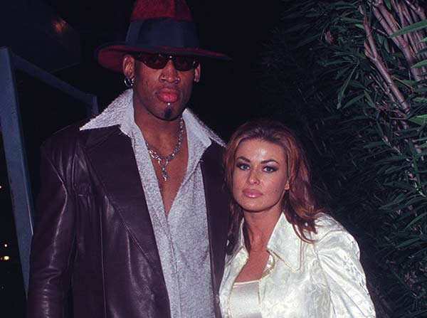 Image of Carmen Electra with her ex husband Dennis Rodman