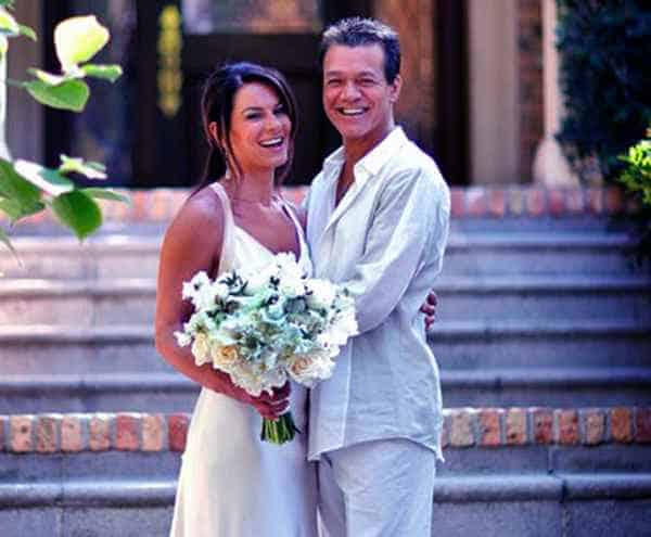 Image of Eddie Van Halen with his wife Janie Liszewski
