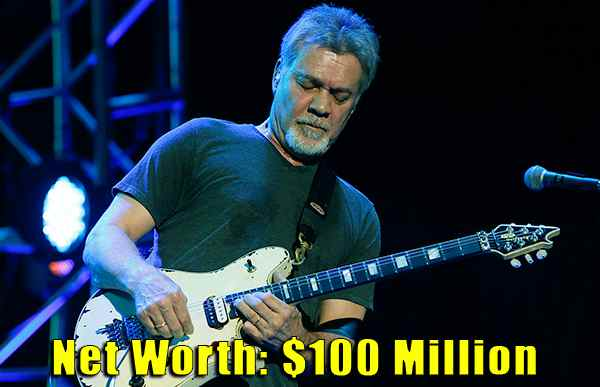 Image of Musician, Eddie Van Halen net worth is $100 million